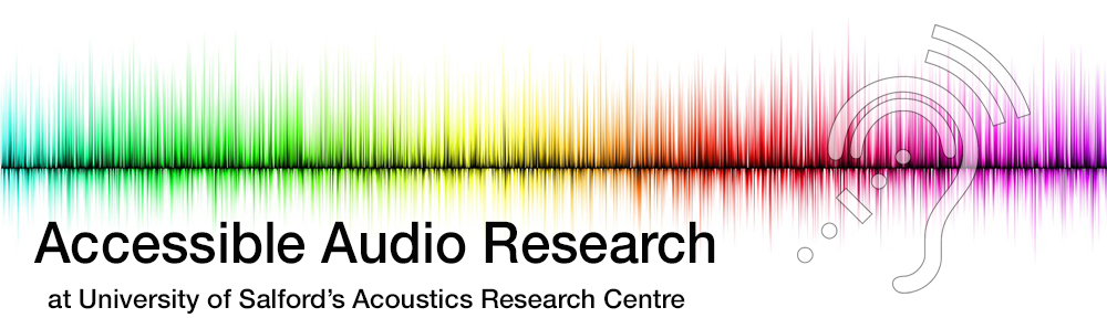 Accessible Audio Research