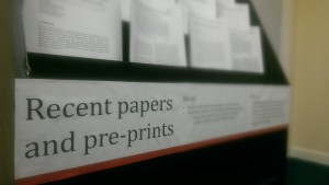 Papers and pre-prints rack