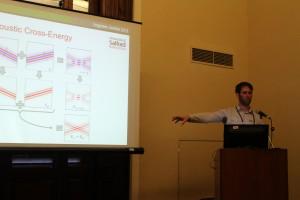Dr Jonathan Hargreaves speaking on acoustic cross-energy