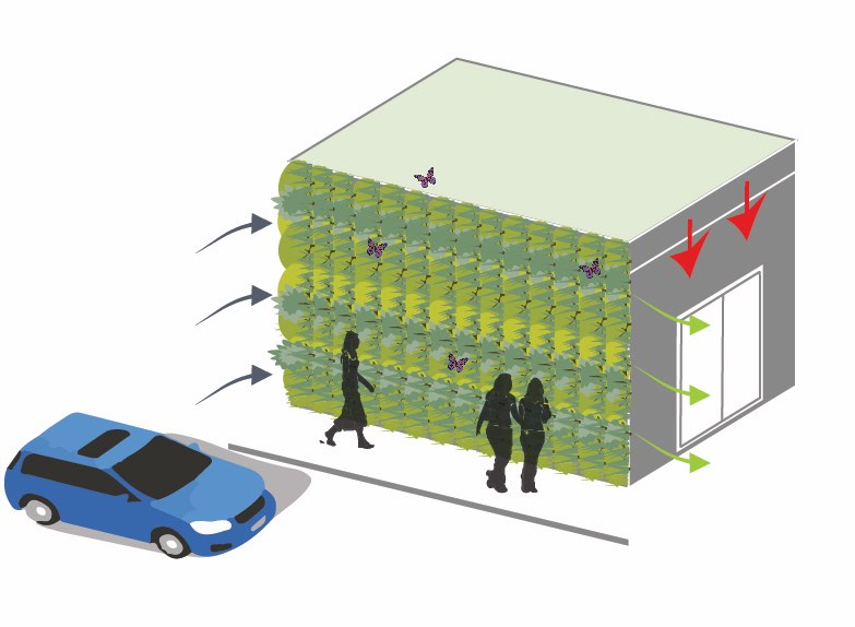 Green wall schematic