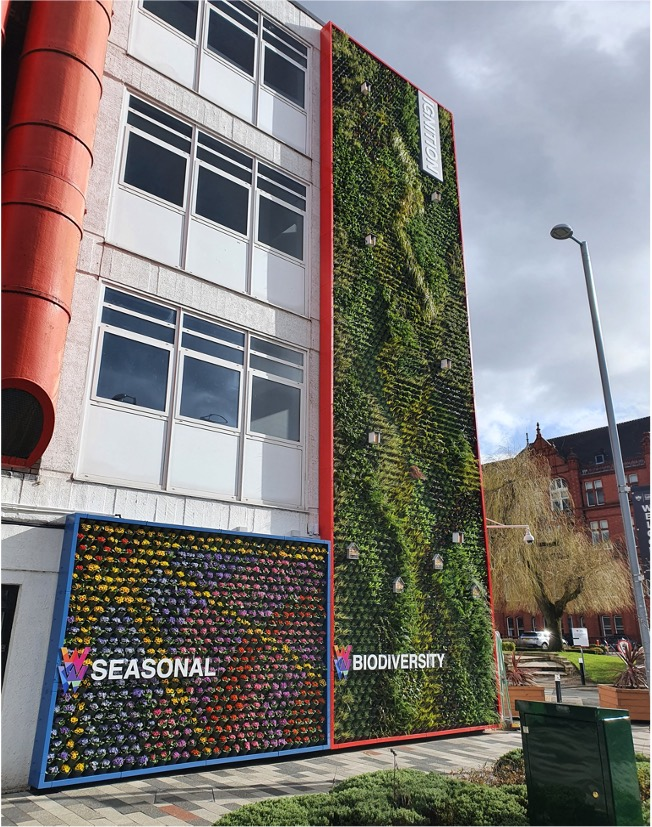 Green wall on Cockroft Building
