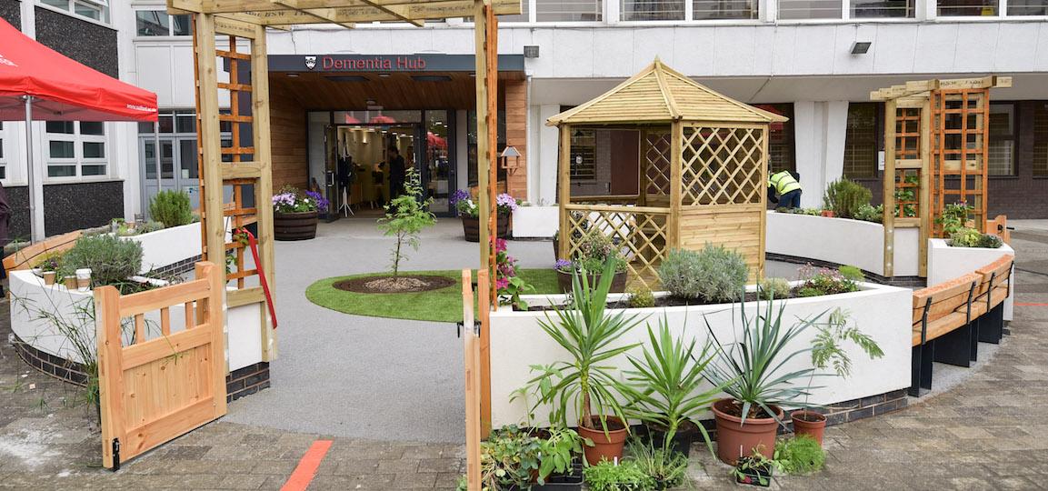 University of Salford Dementia Hub - Garden and Entrance