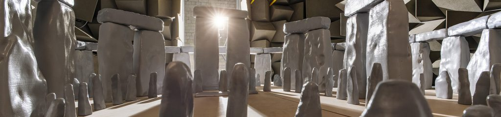 Acoustic model of Stonehenge in Semi-Anechoic chamber