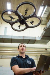 Drone being flown